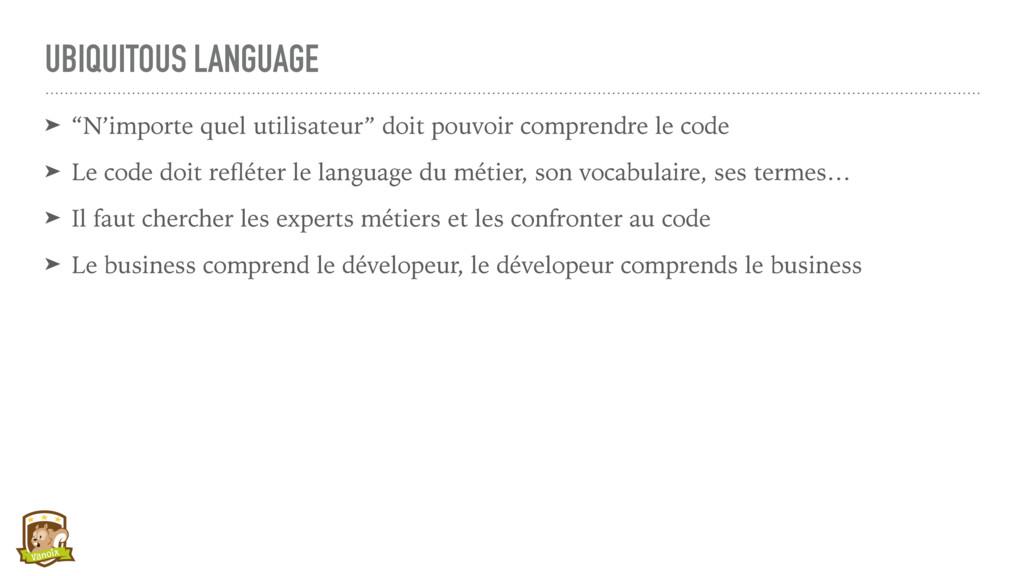 """UBIQUITOUS LANGUAGE ➤ """"N'importe quel utilisate..."""
