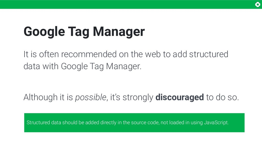 Google Tag Manager It is often recommended on t...