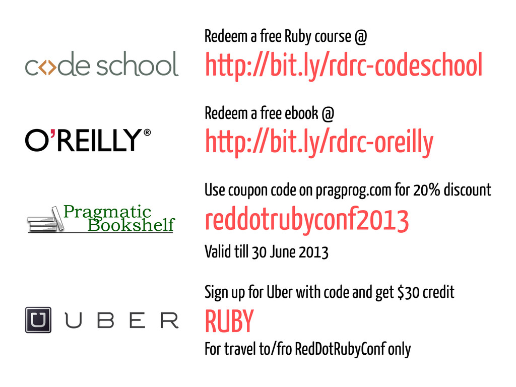 http://bit.ly/rdrc-codeschool Redeem a free Rub...
