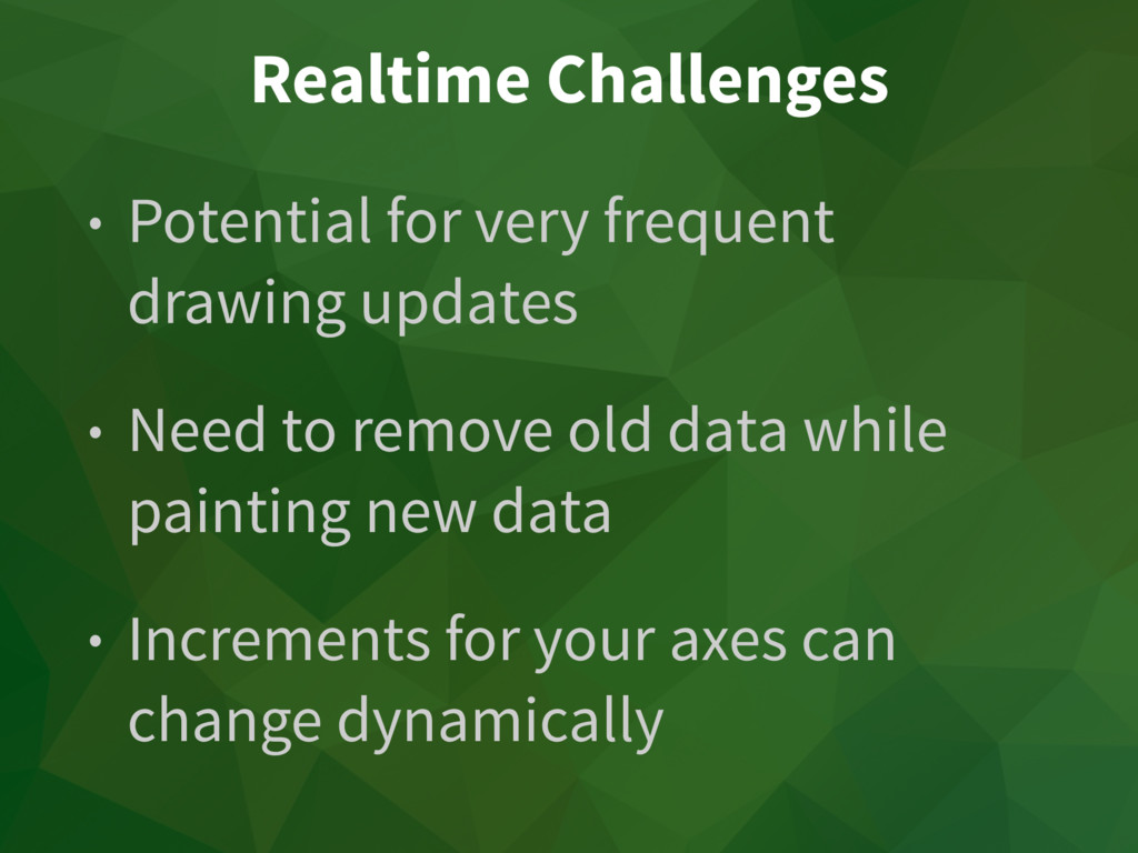 Realtime Challenges • Potential for very freque...