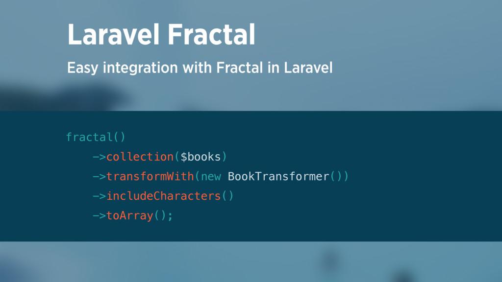 Easy integration with Fractal in Laravel Larave...