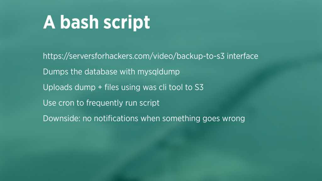 https://serversforhackers.com/video/backup-to-s...