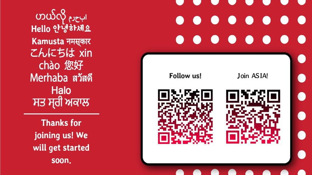 Follow us! J oin AS IA!