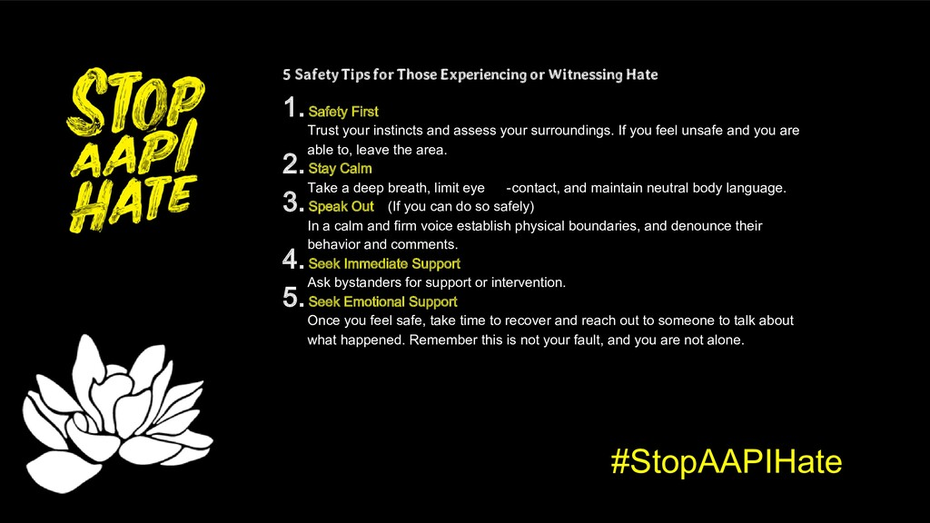 #StopAAPIHate 5 Safety Tips for Those Experienc...