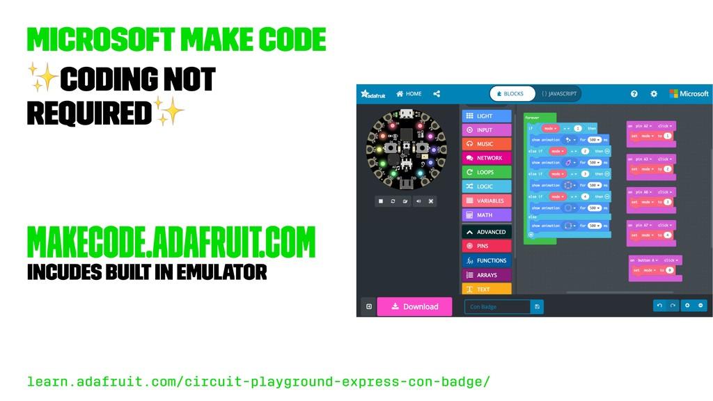 Microsoft Make Code ✨ Coding not required ✨ mak...