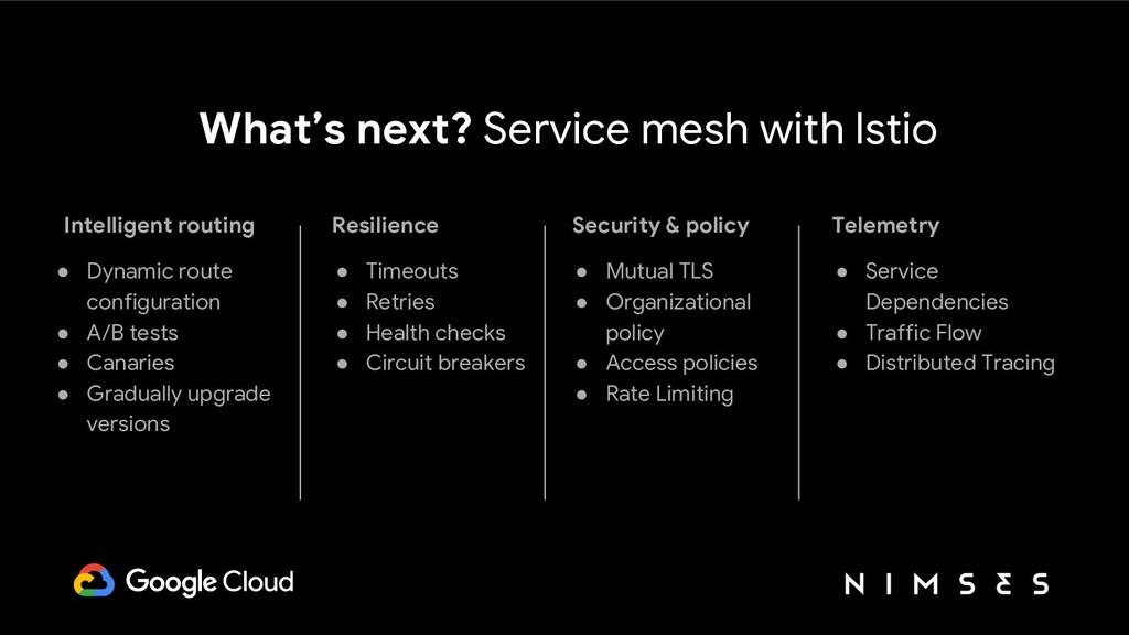 What's next? Service mesh with Istio Intelligen...