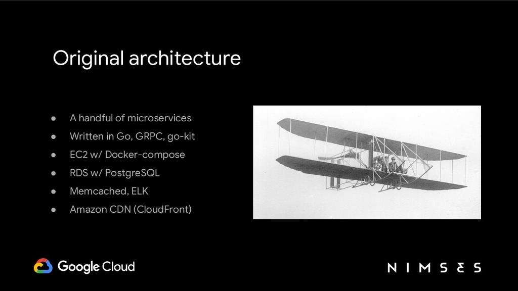 Original architecture ● A handful of microservi...