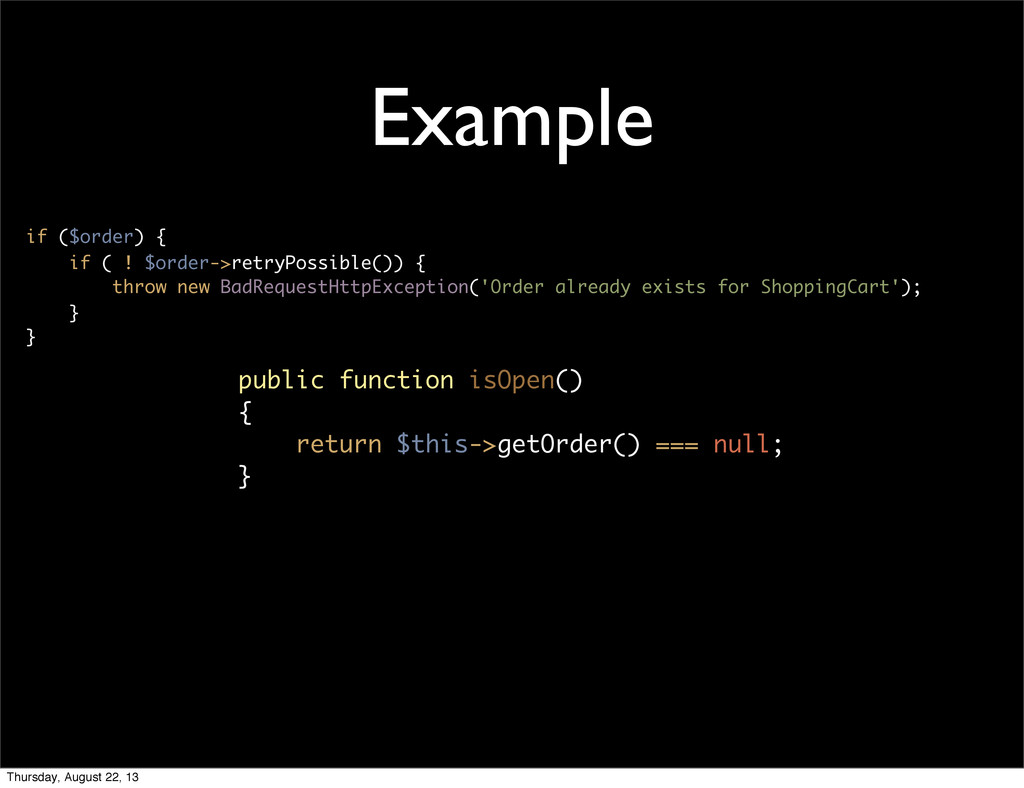 Example if ($order) { if ( ! $order->retryPossi...