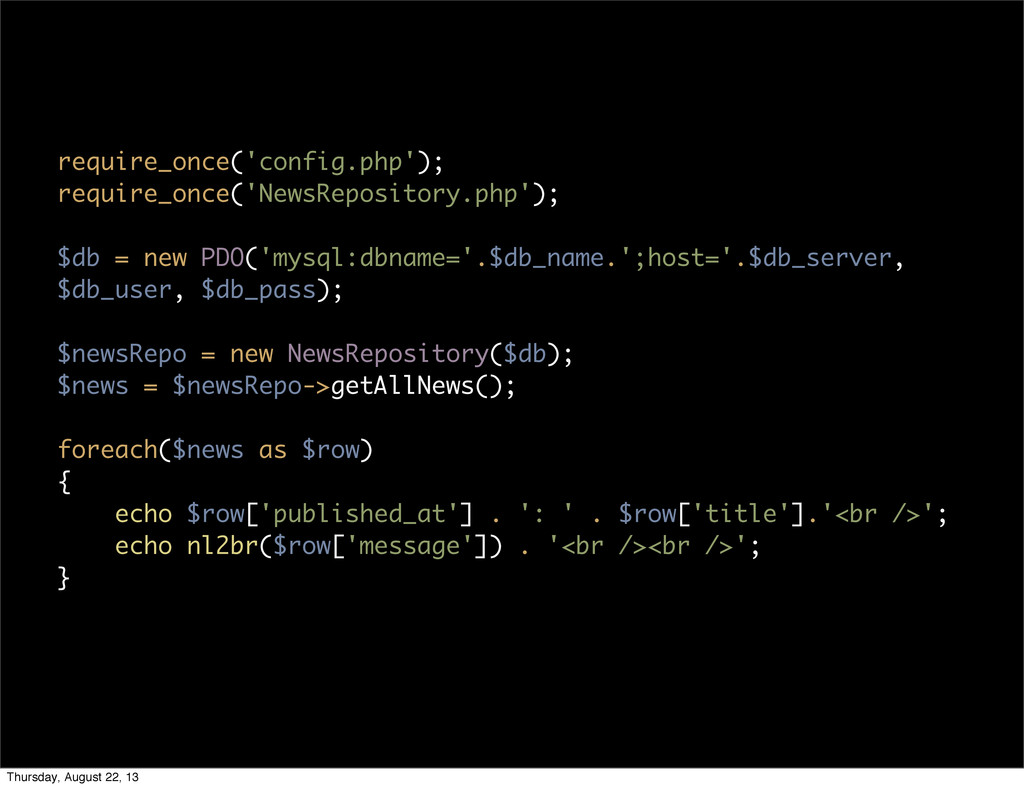 require_once('config.php'); require_once('NewsR...