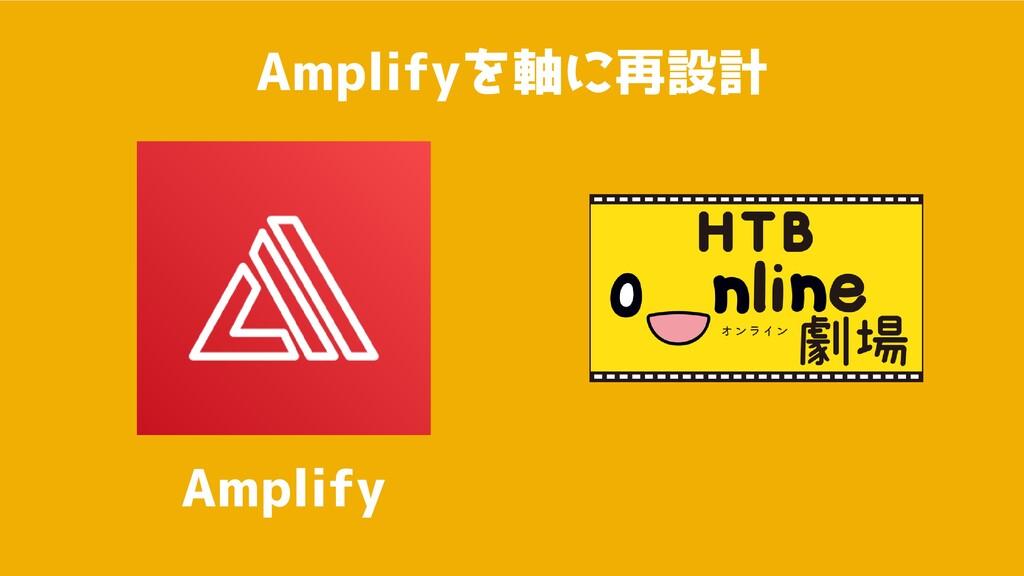 Amplifyを軸に再設計 Amplify