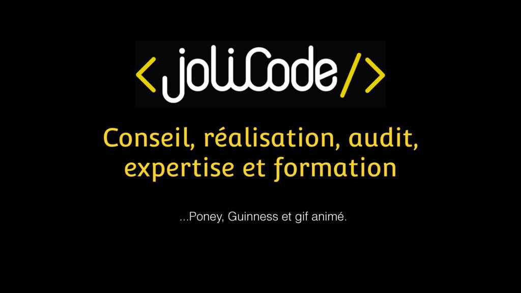 Conseil, réalisation, audit, expertise et forma...