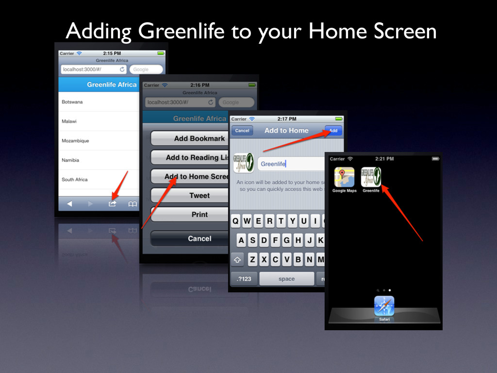 Adding Greenlife to your Home Screen