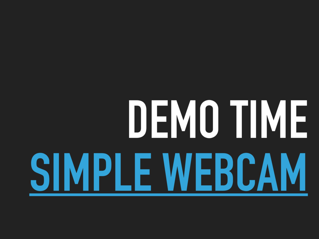 DEMO TIME SIMPLE WEBCAM