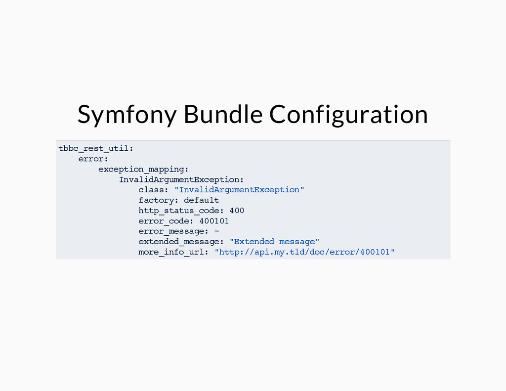 Symfony Bundle Configuration tbbc_rest_util: er...