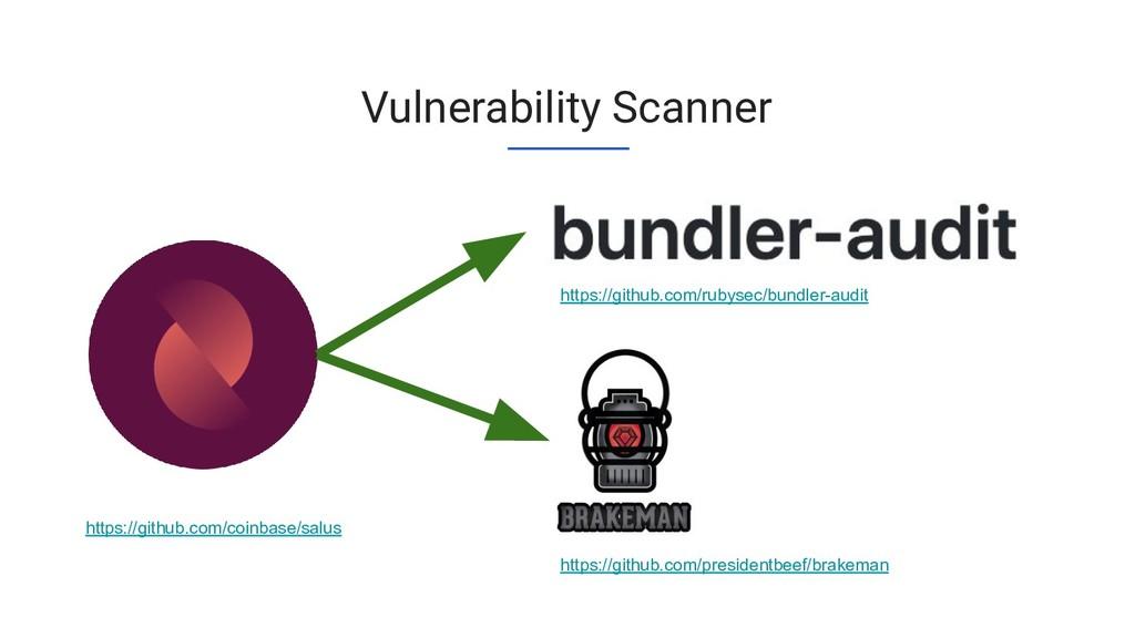 Vulnerability Scanner https://github.com/rubyse...