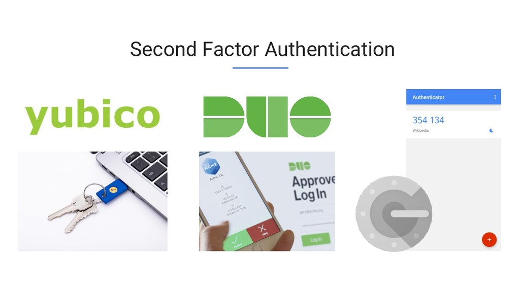 Second Factor Authentication