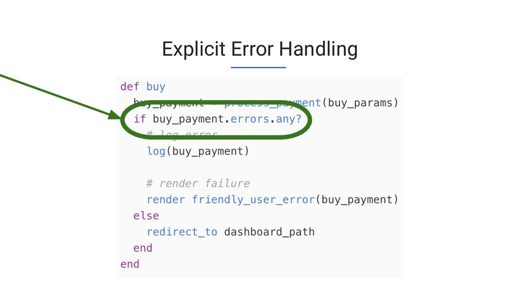 Explicit Error Handling