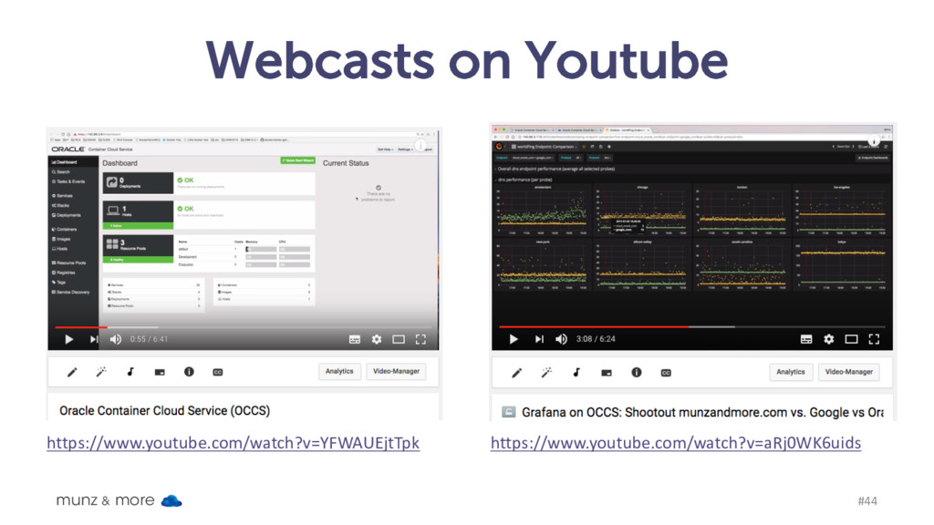Webcasts on Youtube munz & more #44 https://www...