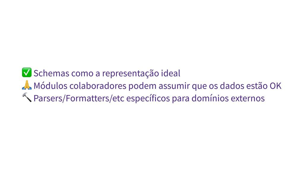 ✅ Schemas como a representação ideal  Módulos c...