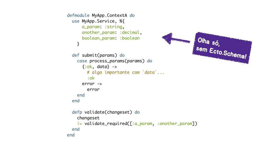 defmodule MyApp.ContextA do use MyApp.Service, ...