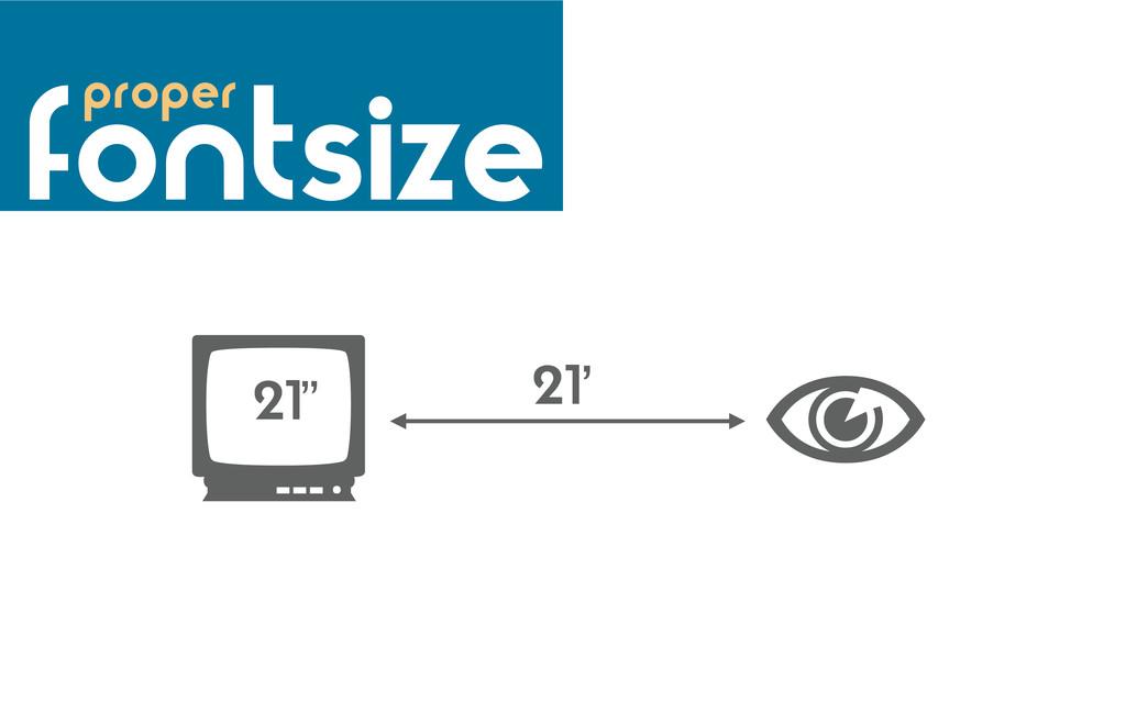 """ 21""""  21' fontsize proper"""
