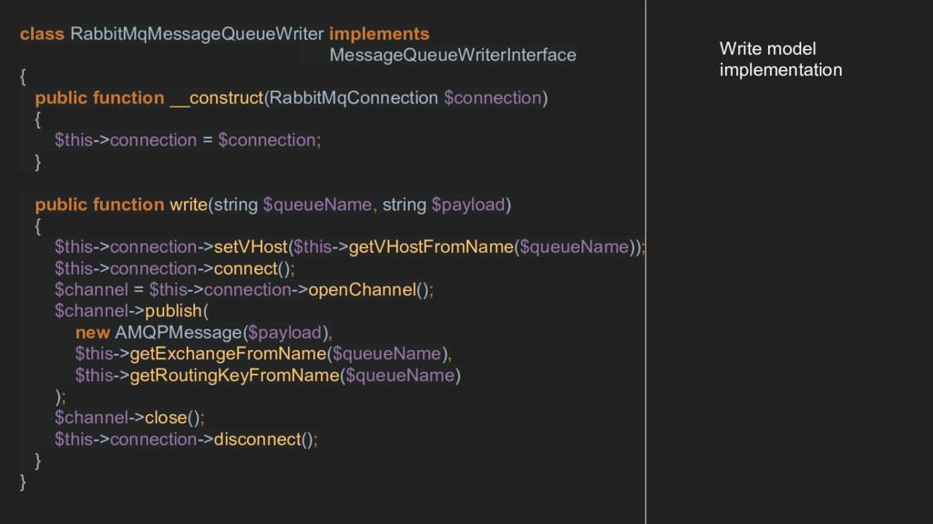 class RabbitMqMessageQueueWriter implements Mes...