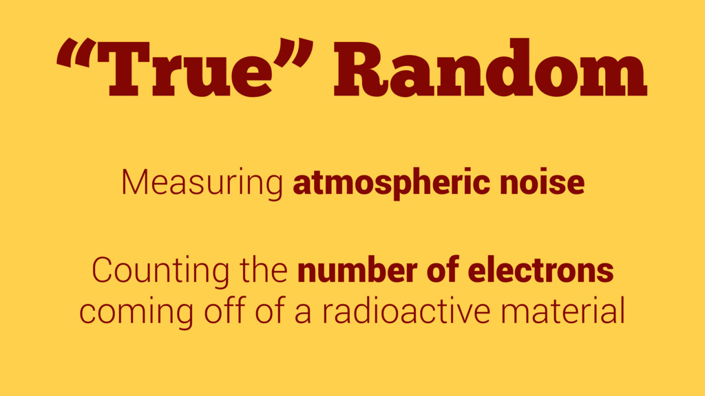 """True"" Random Measuring atmospheric noise Count..."