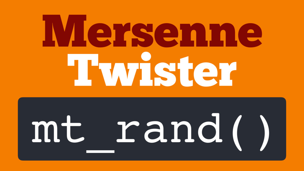Twister Mersenne mt_rand()
