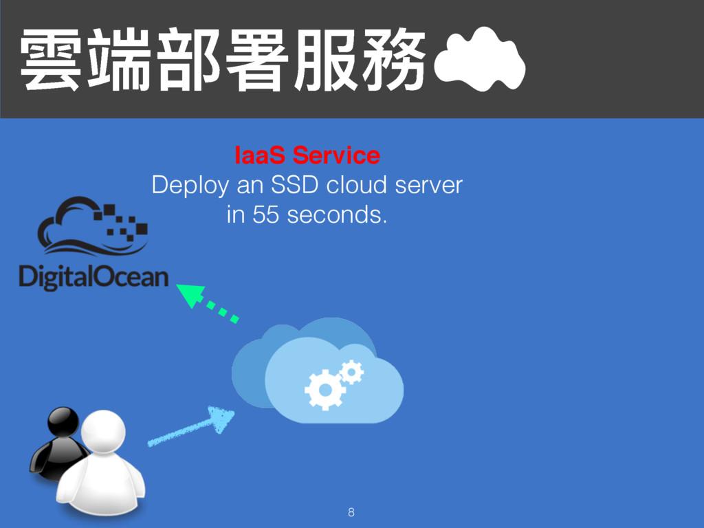 襇ᒒ蟂ᗟ๐率 8 IaaS Service Deploy an SSD cloud serve...