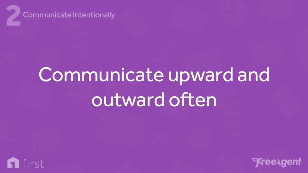 Communicate upward and outward often 2Communica...