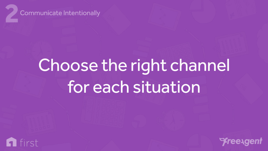Choose the right channel for each situation 2Co...