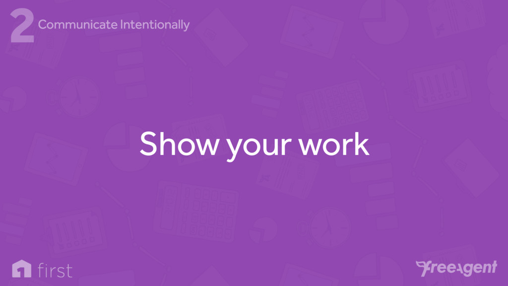 Show your work 2Communicate Intentionally