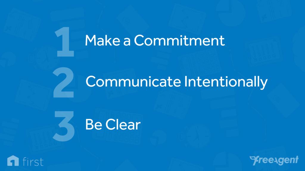 Make a Commitment 1 Communicate Intentionally 2...
