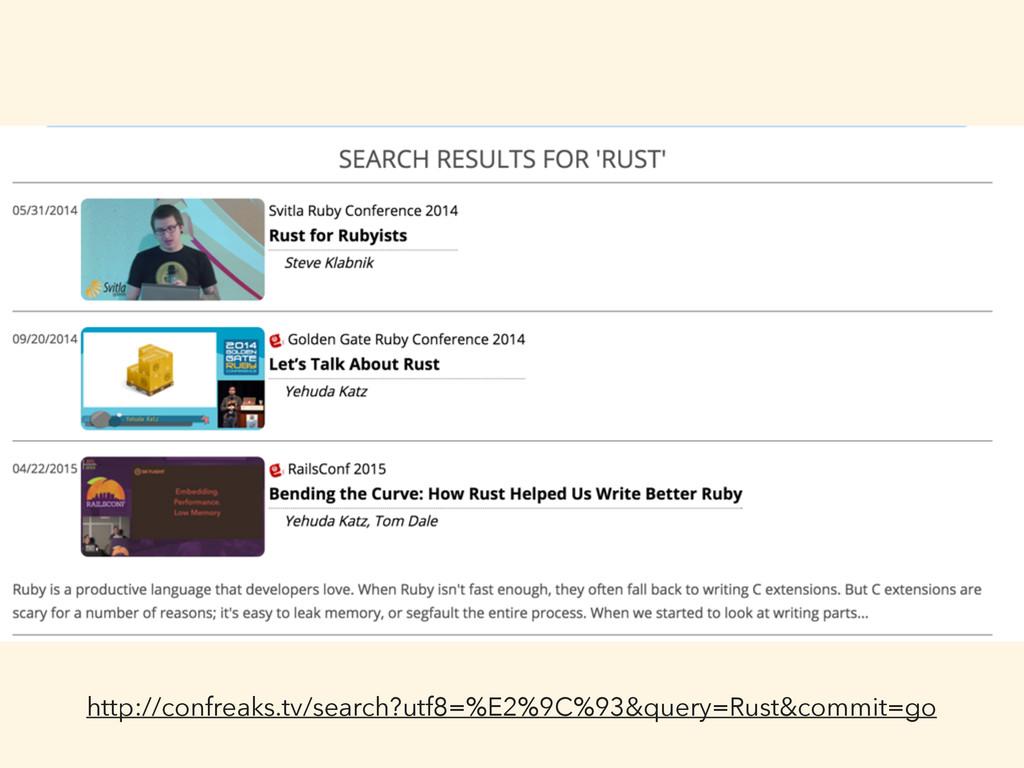 http://confreaks.tv/search?utf8=%E2%9C%93&query...