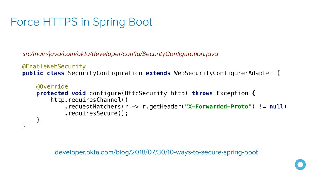 Force HTTPS in Spring Boot src/main/java/com/ok...