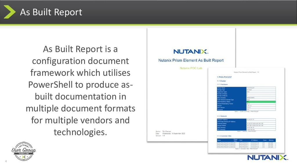 4 As Built Report As Built Report is a configur...
