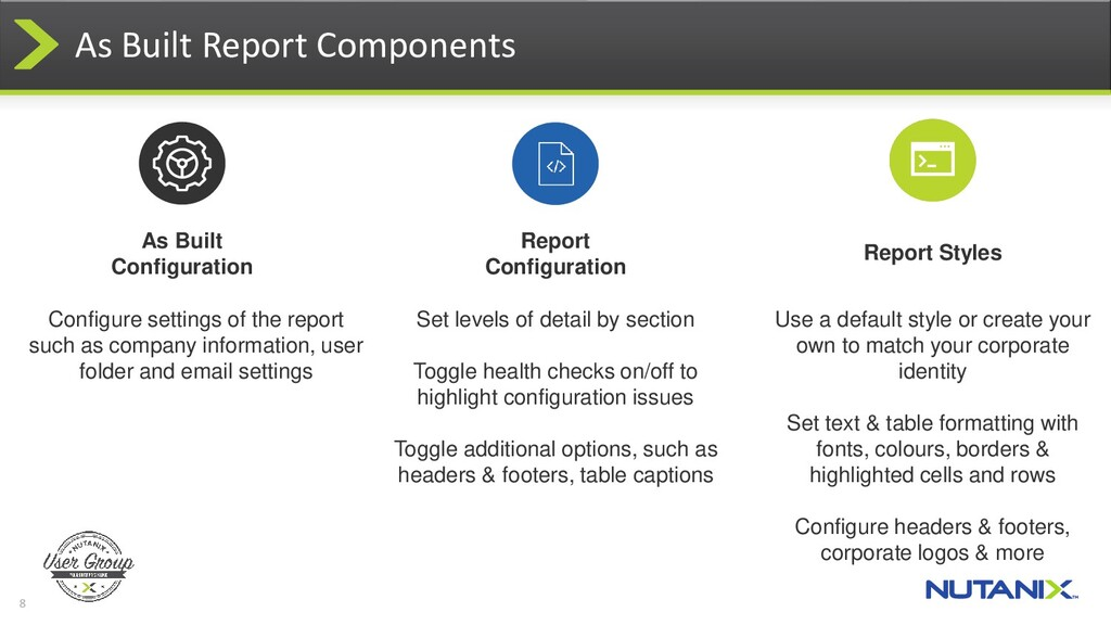 8 As Built Report Components Report Styles Use ...