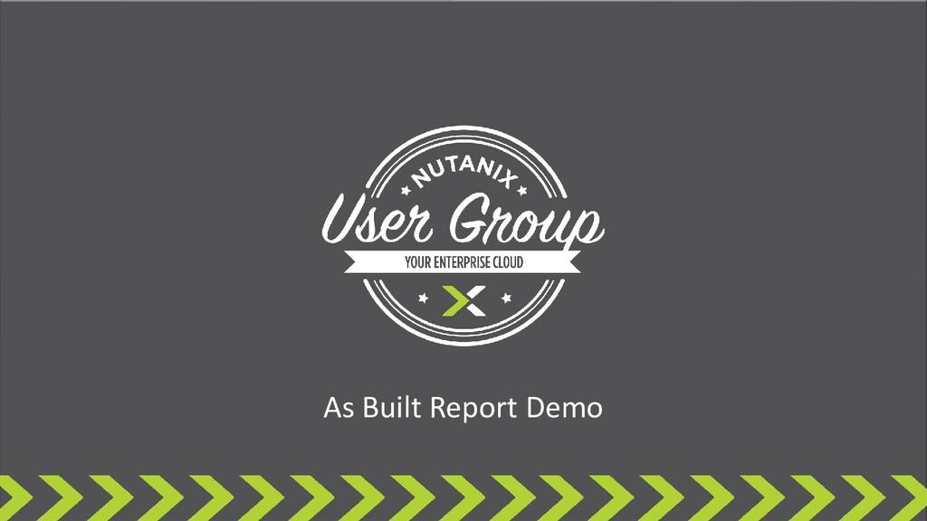 As Built Report Demo