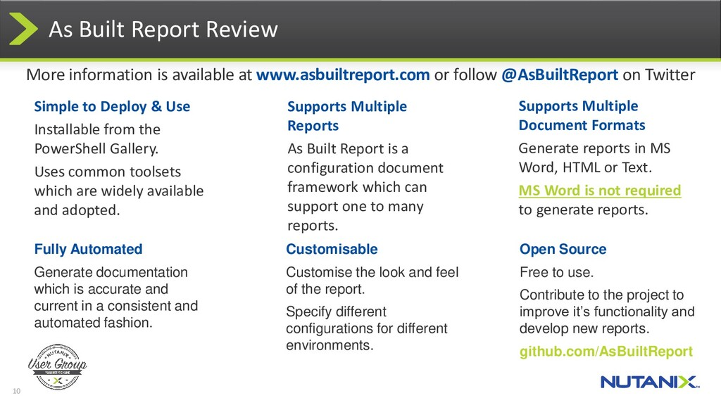 10 As Built Report Review Supports Multiple Doc...