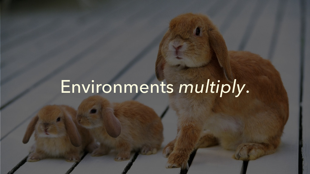 Environments multiply.