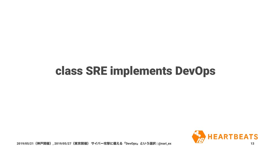 class SRE implements DevOps 2019/05/21ʢਆށ։࠵ʣ, 2...