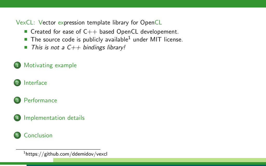 VexCL: Vector expression template library for O...