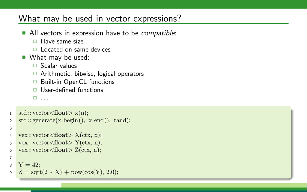 What may be used in vector expressions? All vec...