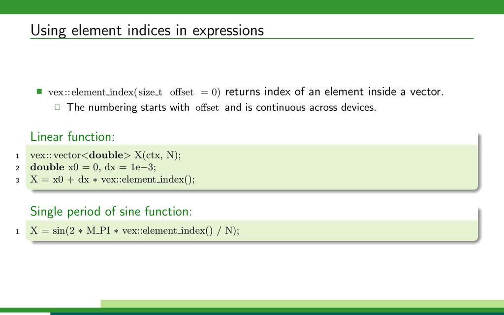 Using element indices in expressions vex::eleme...