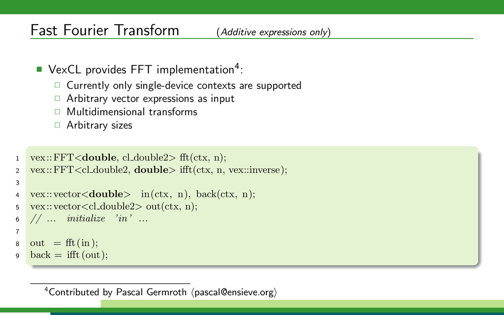 Fast Fourier Transform (Additive expressions on...
