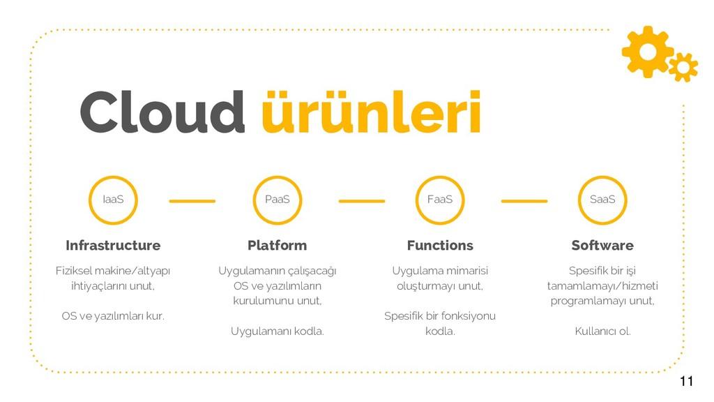 Cloud ürünleri 11 Infrastructure Fiziksel makin...