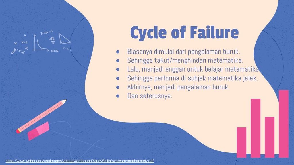 Cycle of Failure ● Biasanya dimulai dari pengal...