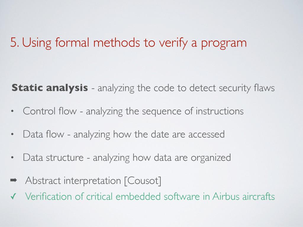 5. Using formal methods to verify a program Sta...