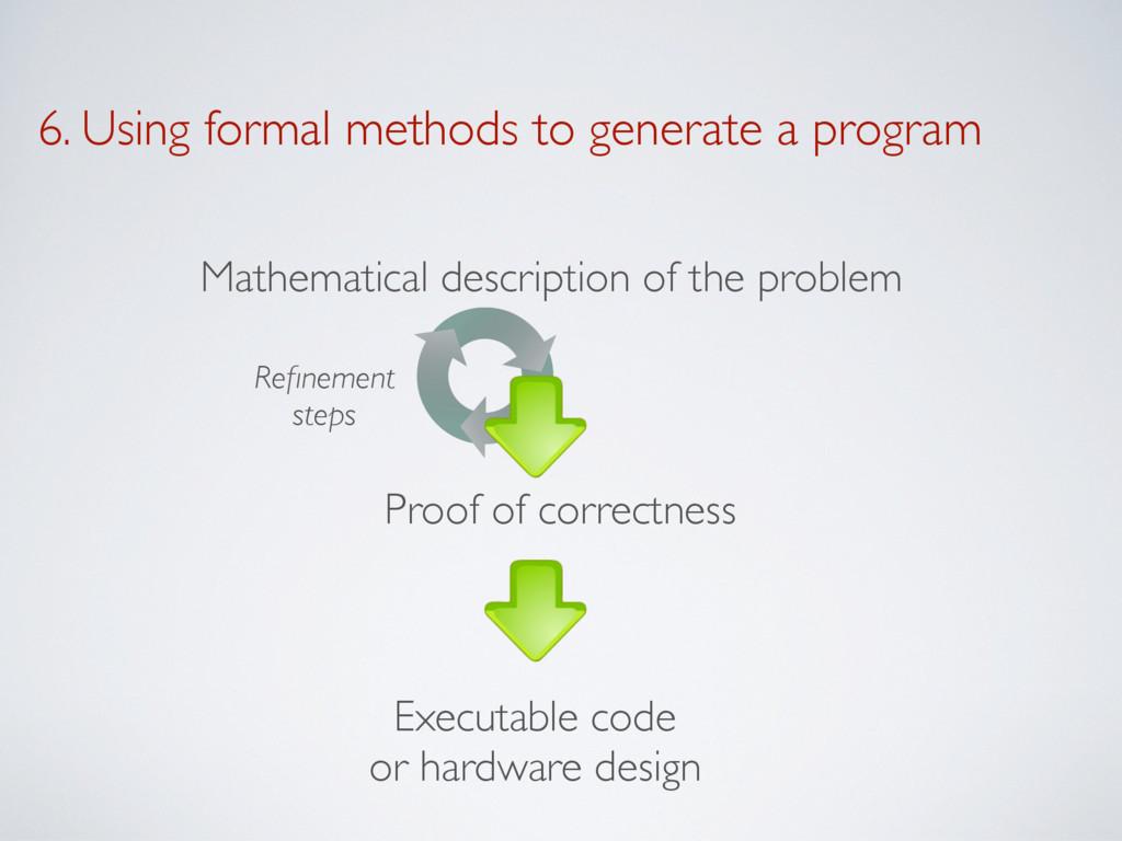6. Using formal methods to generate a program M...