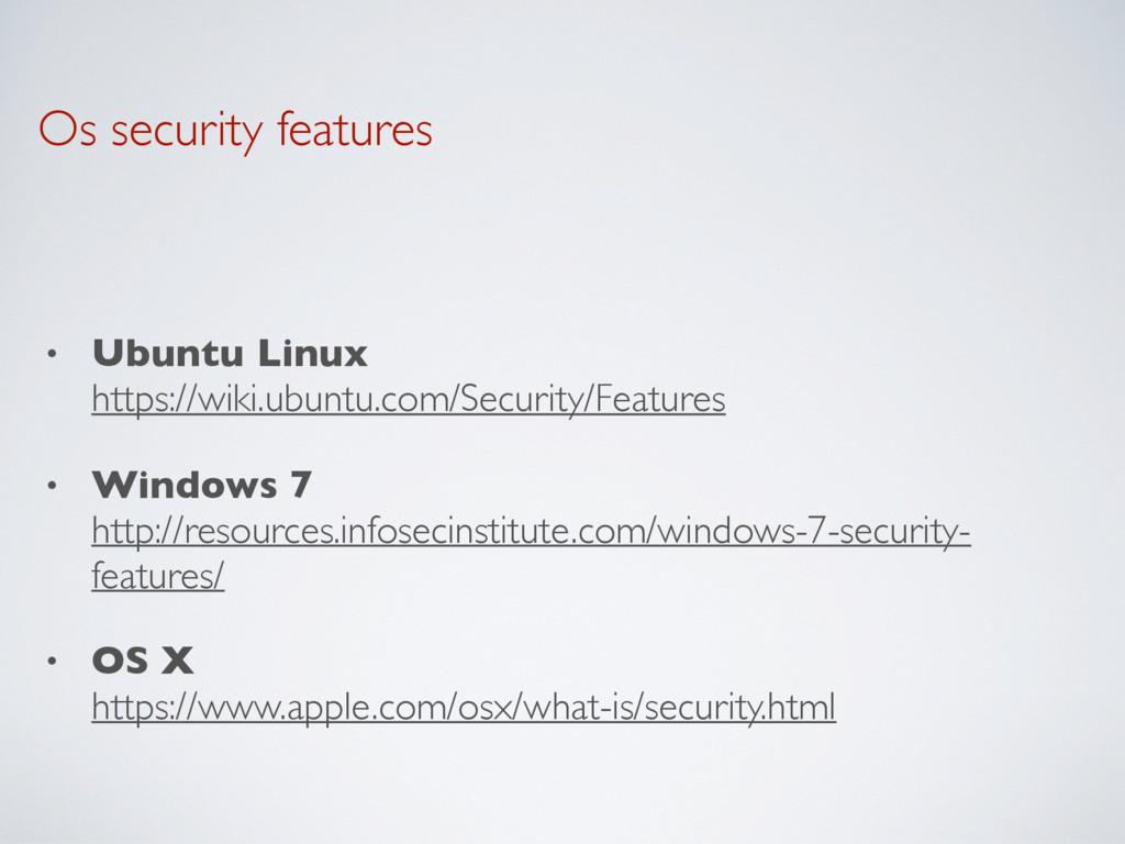 Os security features • Ubuntu Linux https://wi...